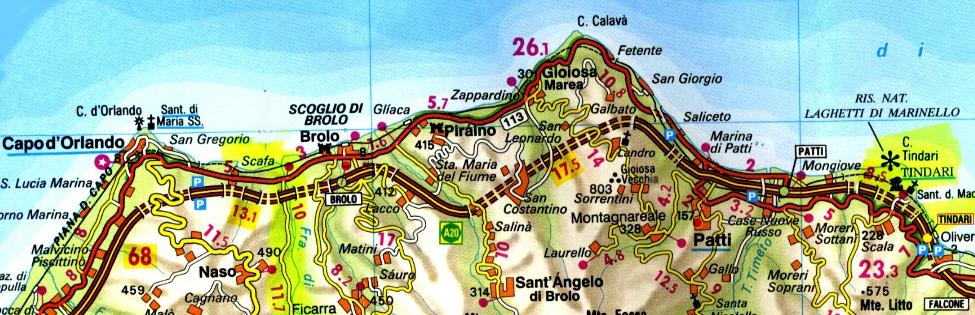 Cartina Sicilia Tindari.Sicilia In Moto Moto Sicilia Itinerari Sicilia Moto