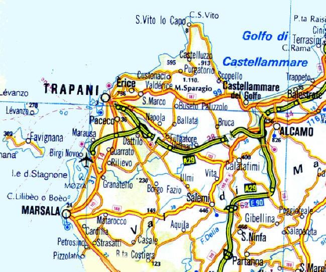 Sicilia Cartina Geografica.Sicilia In Moto Moto Sicilia Itinerari Sicilia Moto